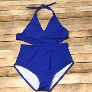Size 4-6 Zeraca Royal Blue Monokini